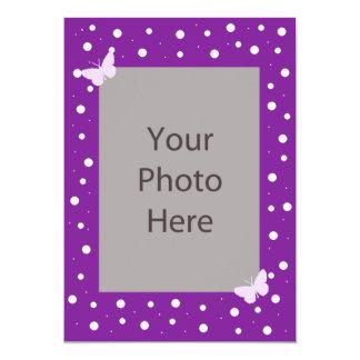 Butterfly Bubble Wedding Invitation - Purple