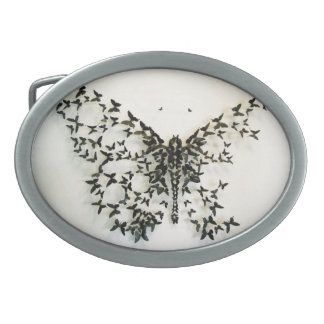 Butterfly buckle belt buckle