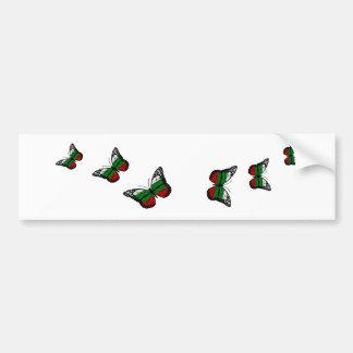 Butterfly Bulgarian Flag Bumper Sticker