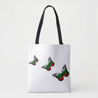 Butterfly Bulgarian Flag Tote Bag