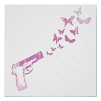 BUTTERFLY BULLETS (PINK) Faded.png Poster