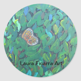 Butterfly Bush Classic Round Sticker