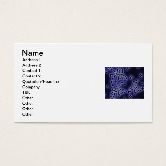 BUTTERFLY BUSINESS CARD