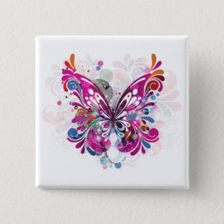 Butterfly ~ Butterflies Customize Template 15 Cm Square Badge