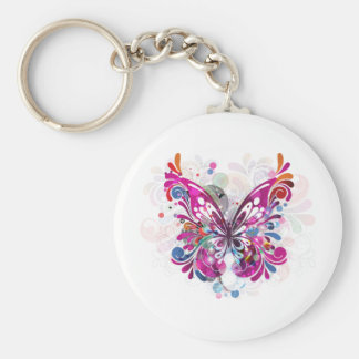 Butterfly ~ Butterflies Customize Template Basic Round Button Key Ring