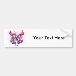 Butterfly ~ Butterflies Customize Template Bumper Sticker