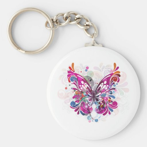 Butterfly ~ Butterflies Customize Template Keychains