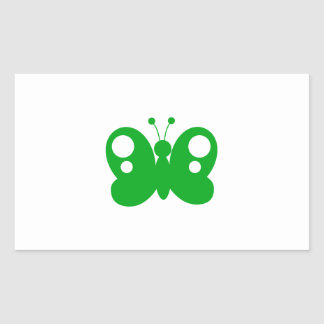Butterfly Butterflies Insect Bug Lepidoptera Cute Rectangle Stickers