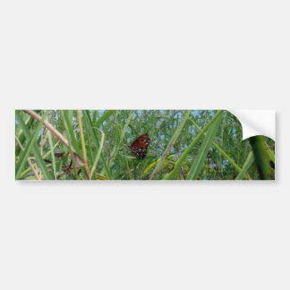 Butterfly by the River Bumper Sticker