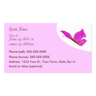 Butterfly calling card - card pack of standard business cards