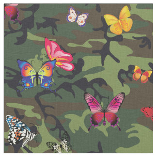butterfly camouflage fabric