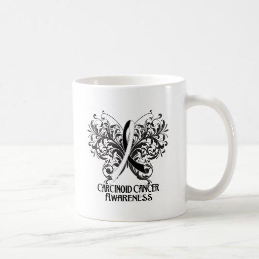 Butterfly Carcinoid Cancer Awareness Basic White Mug