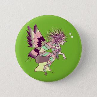 Butterfly Cartoon Artistic Unique Elf Fairy Male 6 Cm Round Badge