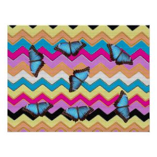 Butterfly Chevrons  Pattern Office Peace Destiny