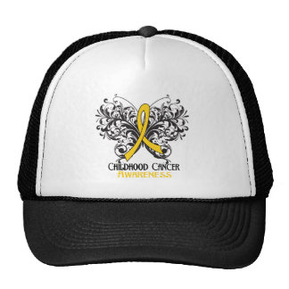 Butterfly Childhood Cancer Awareness Mesh Hats