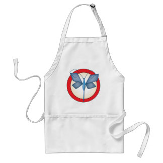 Butterfly Circle Designed Item Standard Apron