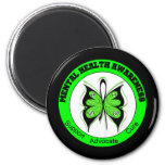 Butterfly Circle Mental Health Awareness 6 Cm Round Magnet
