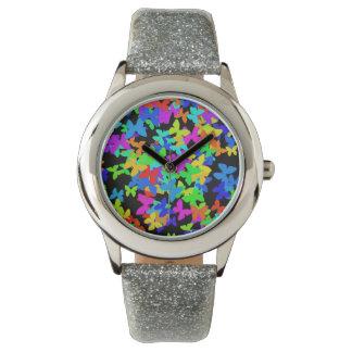 butterfly cloud wrist watch