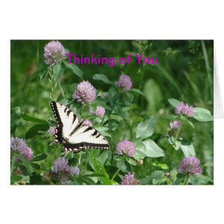 Butterfly & Clover, Thinking of You Card