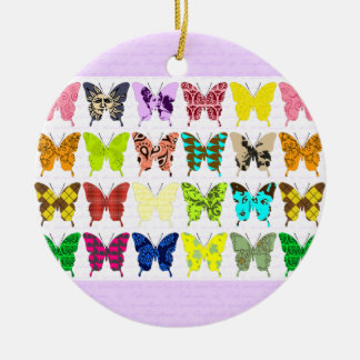 Butterfly Collage Christmas Ornament