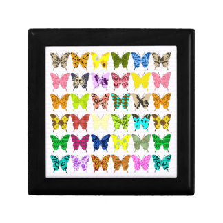Butterfly Collage Small Square Gift Box