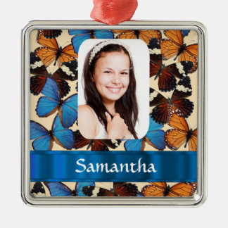 Butterfly collage photo template christmas ornament