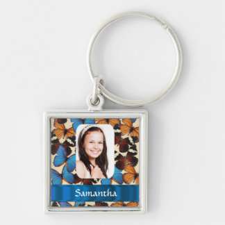 Butterfly collage photo template key ring