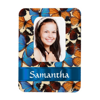Butterfly collage photo template magnet