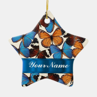 Butterfly collection christmas ornament