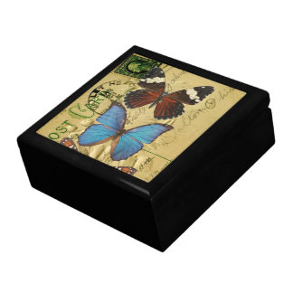 Butterfly collection trinket box