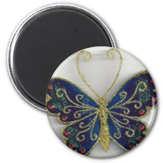 butterfly collection series id 10013 6 cm round magnet