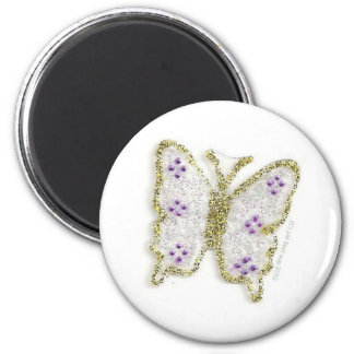 butterfly collection series id 10026 6 cm round magnet