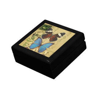 Butterfly collection small square gift box