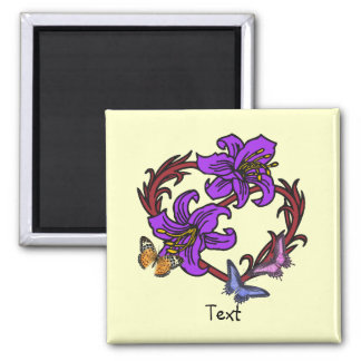Butterfly Collection Square Magnet
