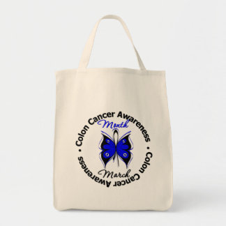 Butterfly Colon Cancer Awareness Month Canvas Bag