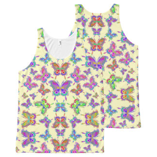 Butterfly Colorful Tattoo Style All-Over Print Tank Top
