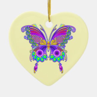 Butterfly Colorful Tattoo Style Christmas Ornament