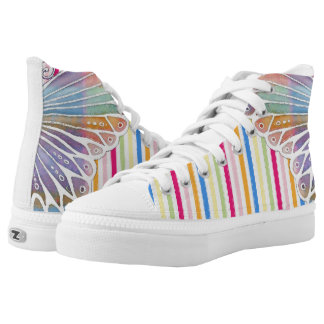 Butterfly Colour Printed Shoes