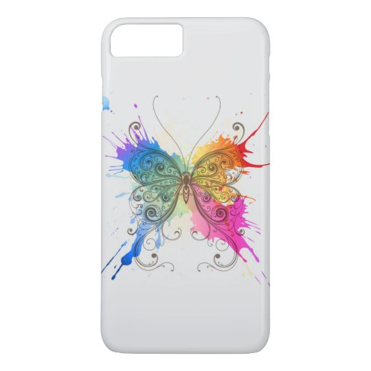 Butterfly Colour Splash iPhone 7 Plus Case