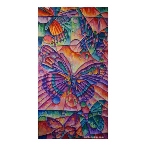 Butterfly Composition Canvas Print