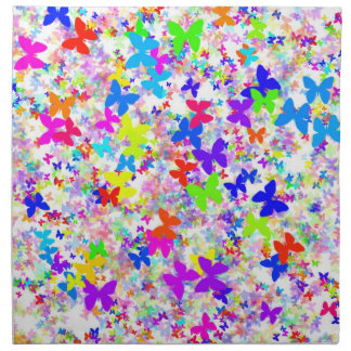 butterfly confetti wedding napkins