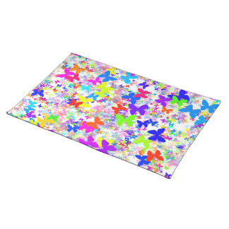 butterfly confetti wedding placemats