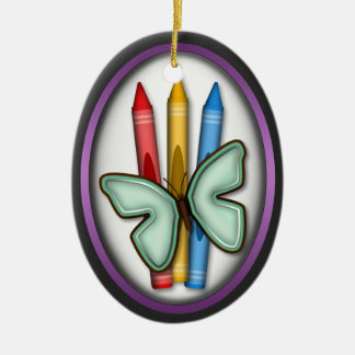Butterfly & Crayons - Gift for Artist Ornament