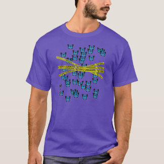 butterfly crime scene T-Shirt