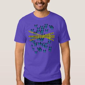 butterfly crime scene tee shirt