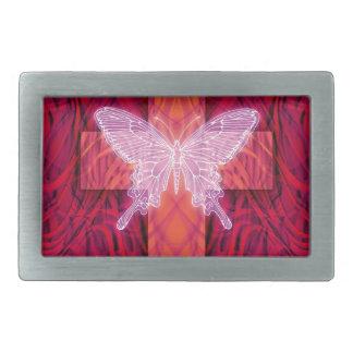 Butterfly cross rectangular belt buckle