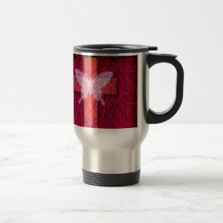 Butterfly cross travel mug