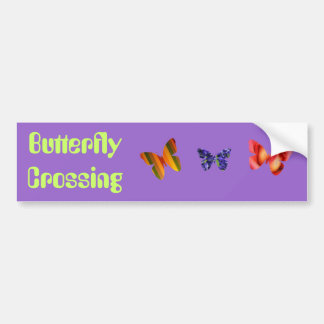 Butterfly Crossing Bumper Sticker