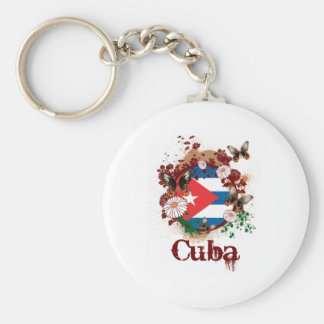 Butterfly Cuba Basic Round Button Key Ring
