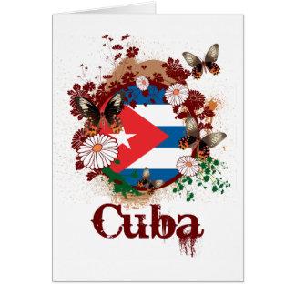 Butterfly Cuba Card